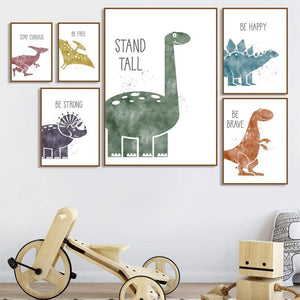 Dinosaur Wall Inspirational Motivation Quote Pictures for Children from Gallery Wallrus | Eclectic Wall Art & Decor with Worldwide Shipping