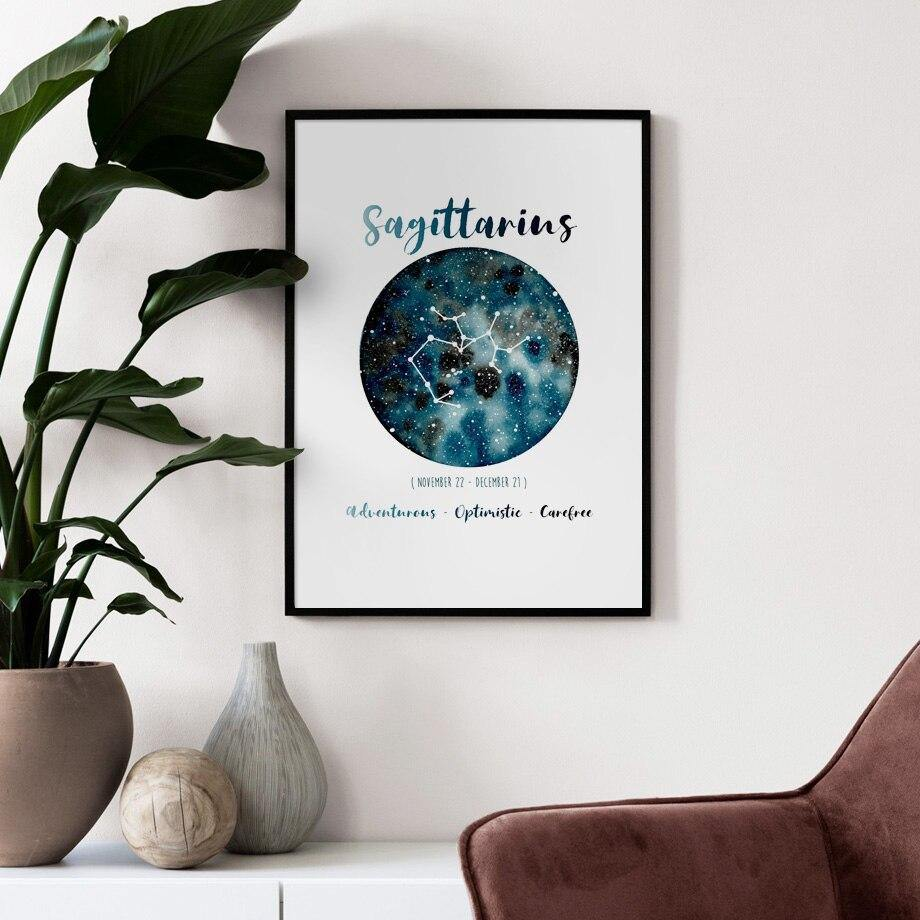 Twelve Constellation Astrology Pictures Gallery Wall Mix & Match from Gallery Wallrus | Eclectic Wall Art & Decor with Worldwide Shipping
