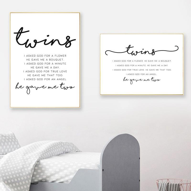 BabyTwins Spiritual Poem Art Pictures from Gallery Wallrus | Eclectic Wall Art & Decor with Worldwide Shipping