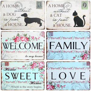 Shabby Chic Floral Pretty Family Home Wall Art Signs from Gallery Wallrus | Eclectic Wall Art & Decor with Worldwide Shipping