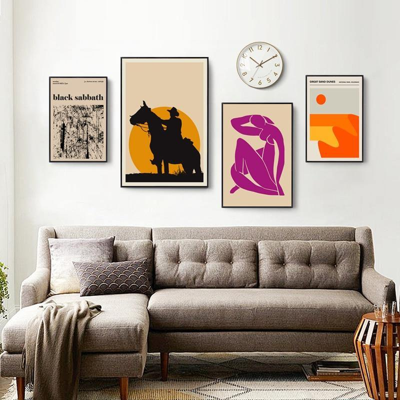 Abstract Yellow Orange Purple Gallery Wall Mix & Match Art Pictures from Gallery Wallrus | Eclectic Wall Art & Decor with Worldwide Shipping