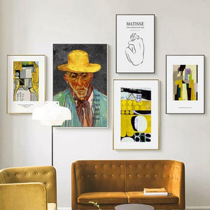 Mustard Palette Matisse Wall Art Gallery Mix & Match from Gallery Wallrus | Eclectic Wall Art & Decor with Worldwide Shipping