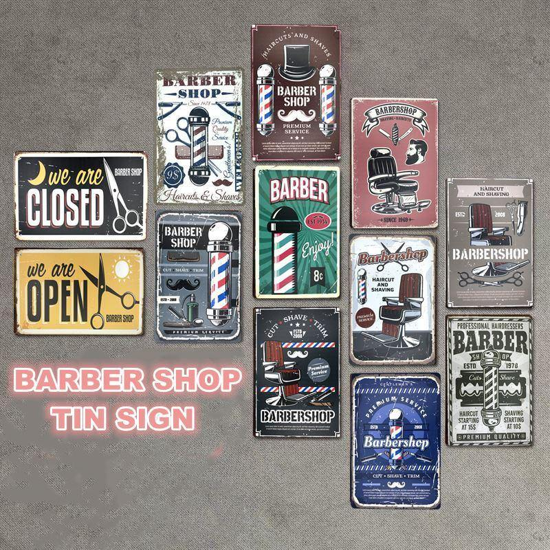 Retro Barber Shop Wall Art Signs from Gallery Wallrus | Eclectic Wall Art & Decor with Worldwide Shipping