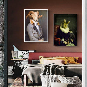Vintage Eclectic Animals Wall Gallery Portraits from Gallery Wallrus | Eclectic Wall Art & Decor with Worldwide Shipping
