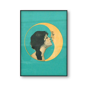 Moon Lover Lady Wall Art Picture from Gallery Wallrus | Eclectic Wall Art & Decor with Worldwide Shipping