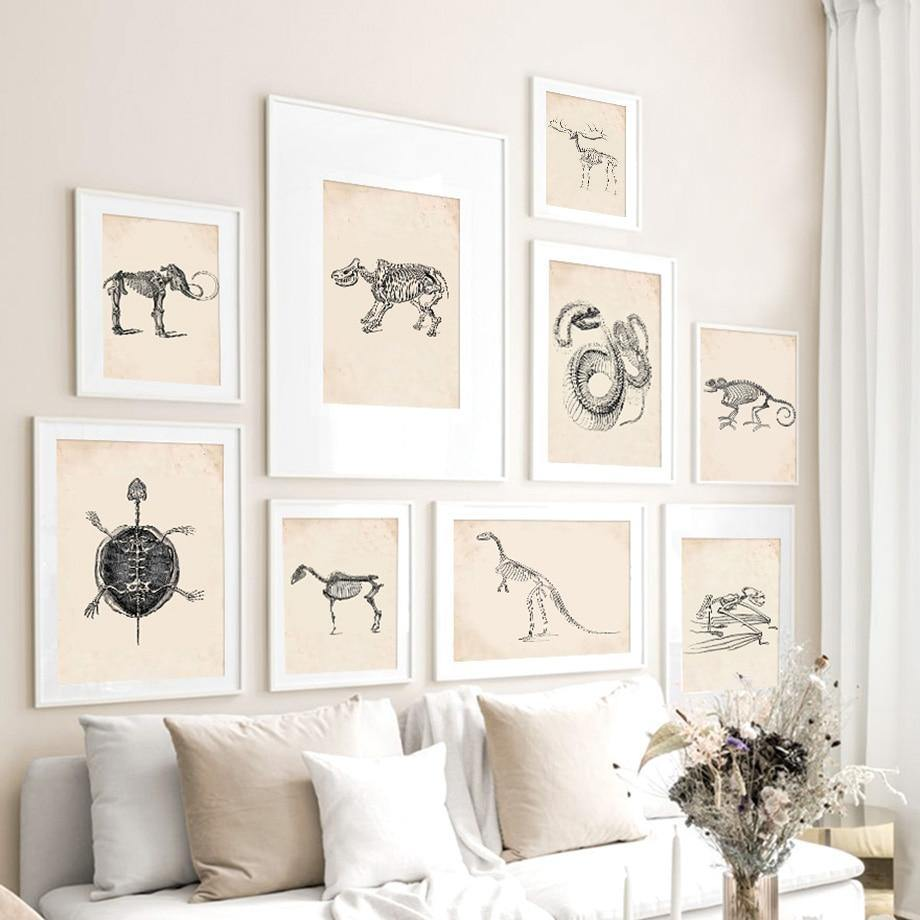 Animal Anatomy Skeleton Wall Art Pictures from Gallery Wallrus | Eclectic Wall Art & Decor with Worldwide Shipping