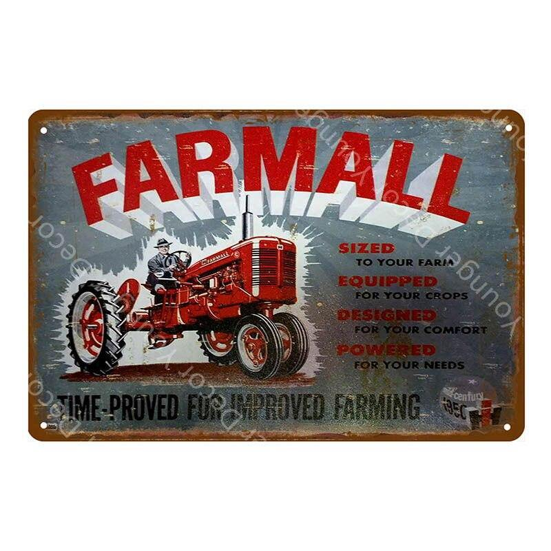 Vintage Farm Tractors Wall Art Metal Signs Mix & Match from Gallery Wallrus | Eclectic Wall Art & Decor with Worldwide Shipping