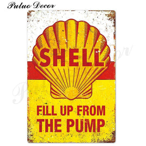Petrol Fuel Brand Metal Wall Signs from Gallery Wallrus | Eclectic Wall Art & Decor with Worldwide Shipping