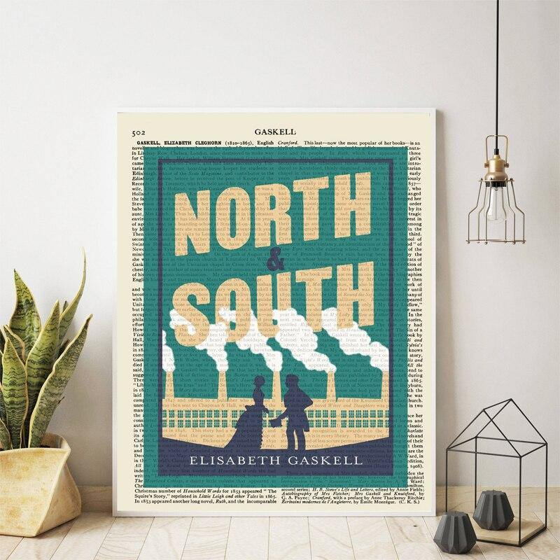 North and South Book Cover by Elizabeth Gaskell Art Print from Gallery Wallrus | Eclectic Wall Art & Decor with Worldwide Shipping