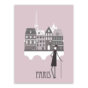 Vintage Paris Rome London Illustration Gallery Wall Mix & Match from Gallery Wallrus | Eclectic Wall Art & Decor with Worldwide Shipping