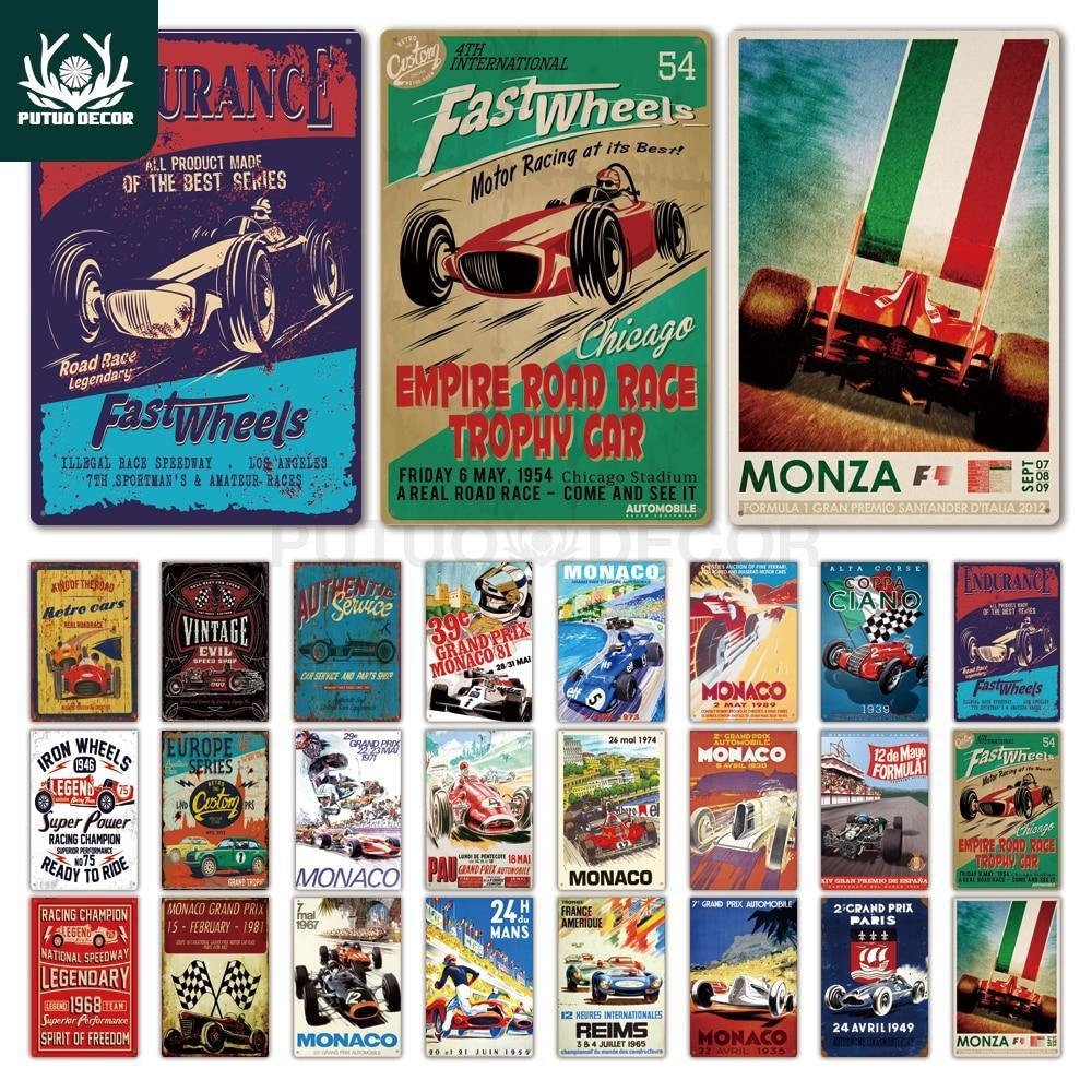 Vintage Car Racing Metal Wall Art Signs Mix & Match from Gallery Wallrus | Eclectic Wall Art & Decor with Worldwide Shipping