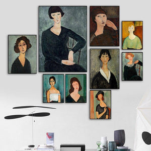 Abstract Woman Oil Paintings Gallery Wall Art Mix & Match from Gallery Wallrus | Eclectic Wall Art & Decor with Worldwide Shipping
