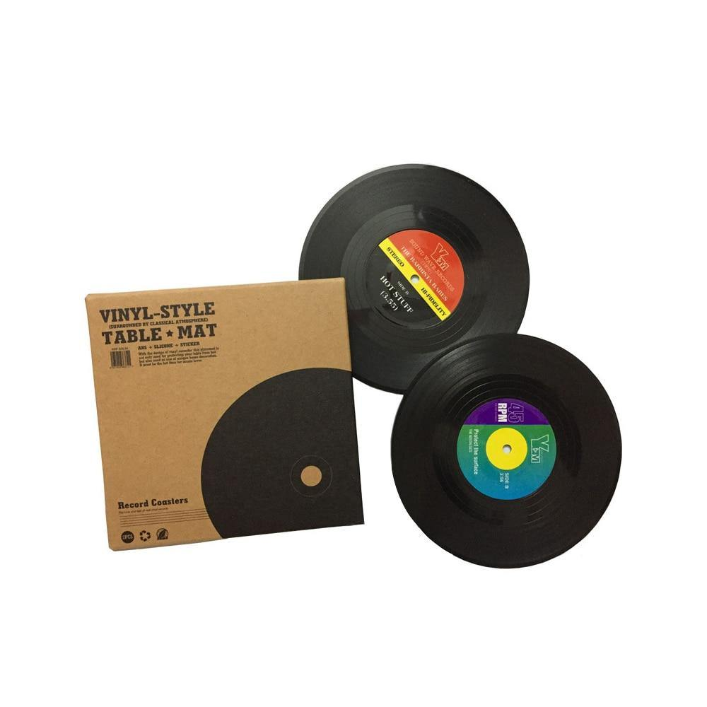 Vinyl Record Drinks Coaster Sets from Gallery Wallrus | Eclectic Wall Art & Decor with Worldwide Shipping