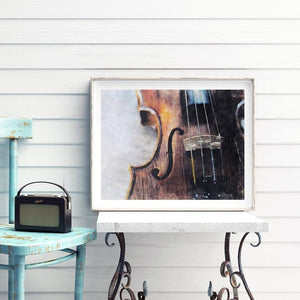 Vintage Violin Music Wall Art Painting from Gallery Wallrus | Eclectic Wall Art & Decor with Worldwide Shipping