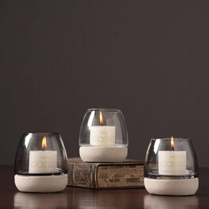 Votive Tealight Candle Holders Glass Christmas Nordic Vintage Photophore Verre Candlestick Crystal Candle Holder Stand CBY002 from Gallery Wallrus | Eclectic Wall Art & Decor with Worldwide Shipping
