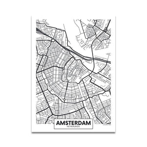 Black & White Minimalist City Art Prints for Gallery Wall from Gallery Wallrus | Eclectic Wall Art & Decor with Worldwide Shipping