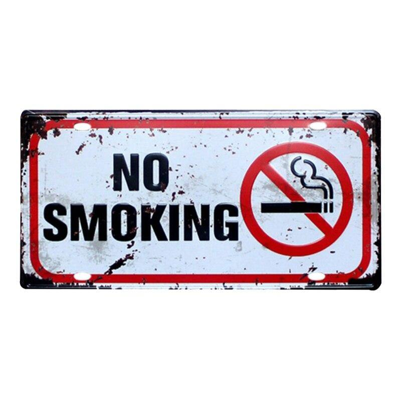 Retro Pub no smoking and security Metal Signs from Gallery Wallrus | Eclectic Wall Art & Decor with Worldwide Shipping