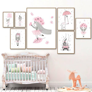 Little Girl Princess Wall Art Pictures Mix & Match Gallery Wall from Gallery Wallrus | Eclectic Wall Art & Decor with Worldwide Shipping