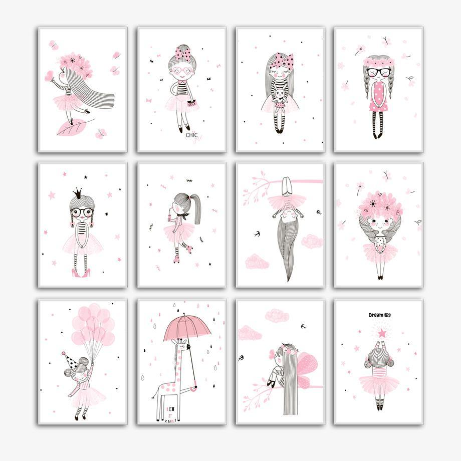 Little Girl Princess Wall Art Pictures Mix & Match Gallery Wall 2 from Gallery Wallrus | Eclectic Wall Art & Decor with Worldwide Shipping
