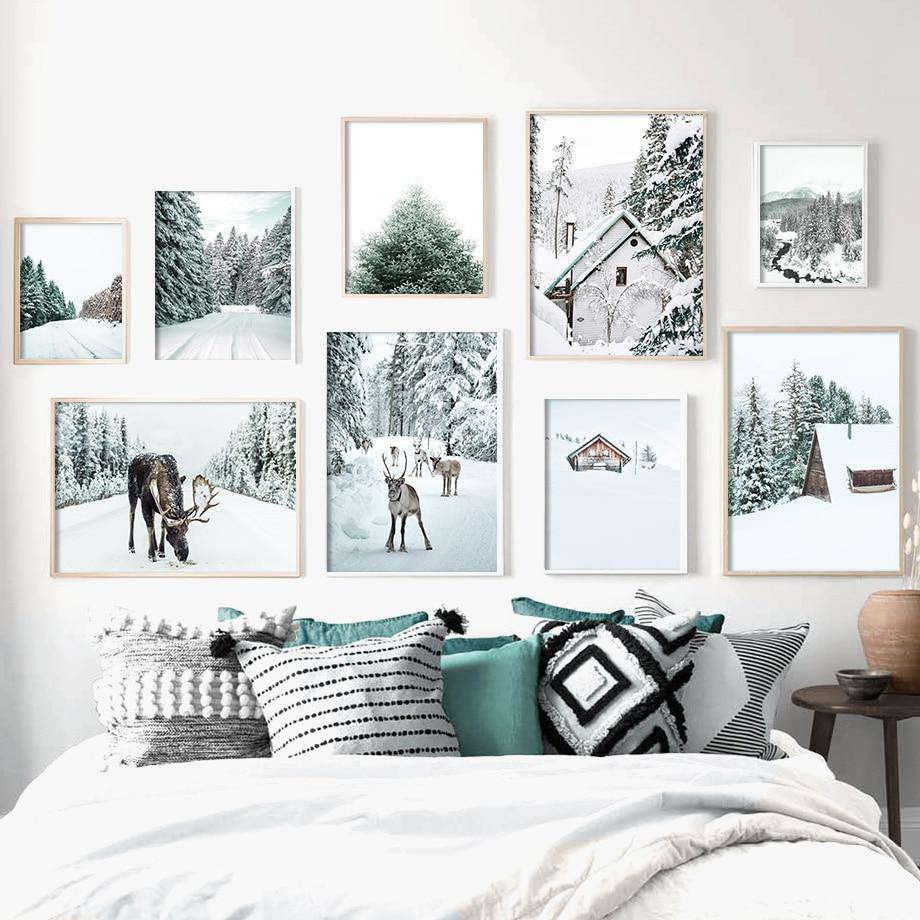 Snowy Winter Landscape Photography Art Print Gallery Wall Mix & Match from Gallery Wallrus | Eclectic Wall Art & Decor with Worldwide Shipping