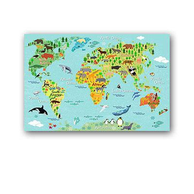 Childrens World Map, Alphabet and Educational Art Picture Prints 2 from Gallery Wallrus | Eclectic Wall Art & Decor with Worldwide Shipping