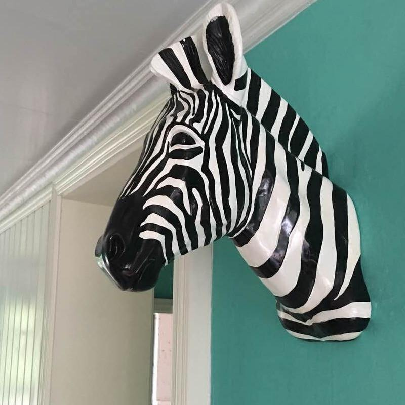 Zebra Head Wall Sculpture from Gallery Wallrus | Eclectic Wall Art & Decor with Worldwide Shipping