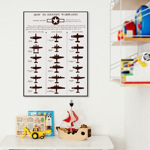 Vintage Warplanes Art Print Duo from Gallery Wallrus | Eclectic Wall Art & Decor with Worldwide Shipping