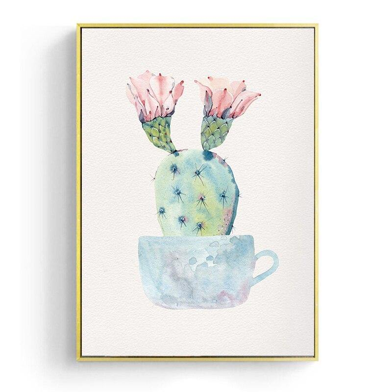Watercolor Cactus Illustrations Wall Art Gallery Wall Prints from Gallery Wallrus | Eclectic Wall Art & Decor with Worldwide Shipping