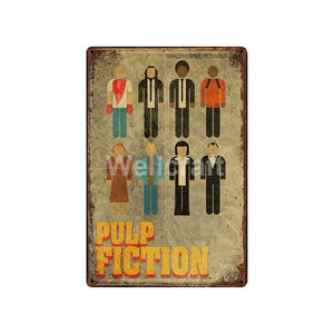 Pulp Fiction Movie Poster Metal Wall Art Hangings from Gallery Wallrus | Eclectic Wall Art & Decor with Worldwide Shipping