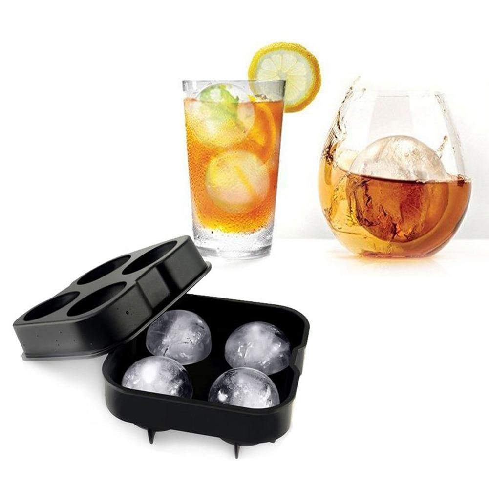 Black Four Round Ball Ice Cube Molder Tray from Gallery Wallrus | Eclectic Wall Art & Decor with Worldwide Shipping
