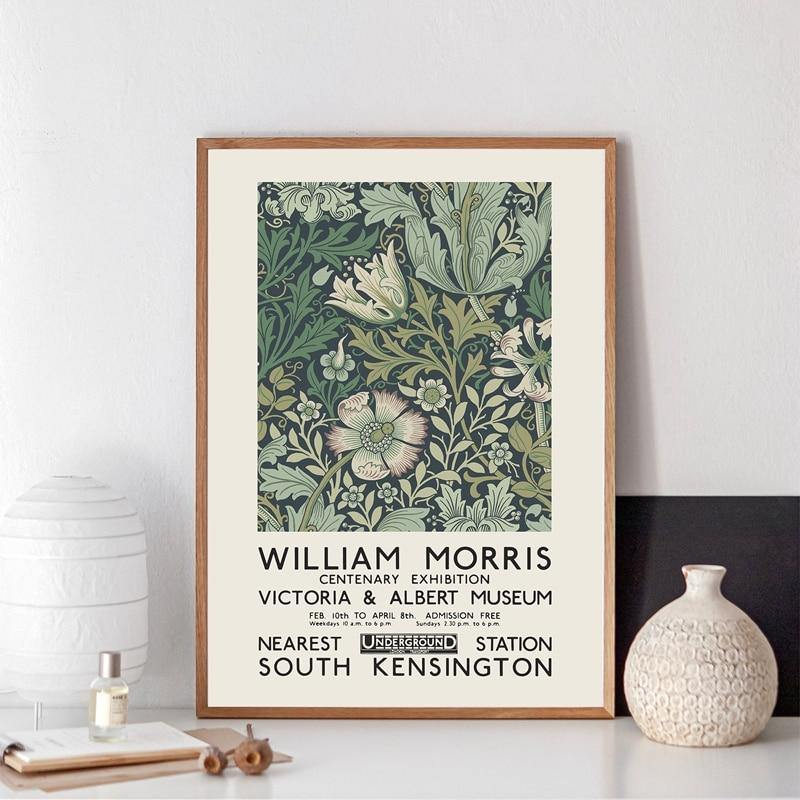 The Victoria & Albert Museum Exhibition of William Morris Art Print from Gallery Wallrus | Eclectic Wall Art & Decor with Worldwide Shipping