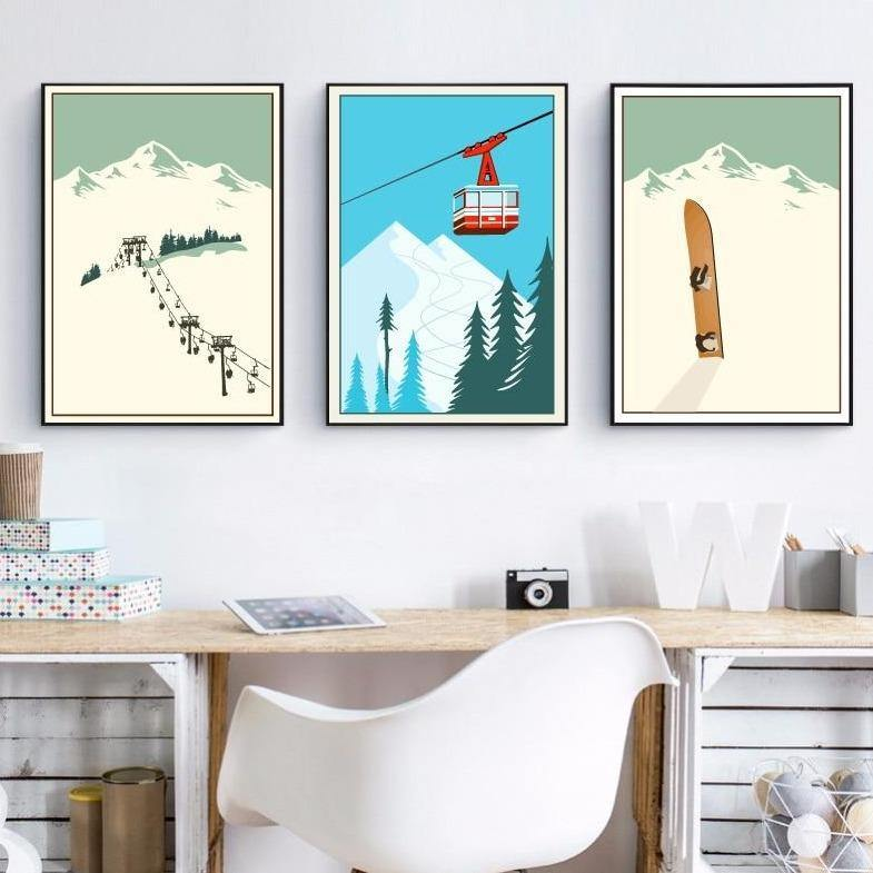 Winter Snow Sports Gallery Art Prints from Gallery Wallrus | Eclectic Wall Art & Decor with Worldwide Shipping