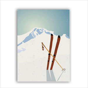 Winter Mountain Skiing Wall Art Posters from Gallery Wallrus | Eclectic Wall Art & Decor with Worldwide Shipping
