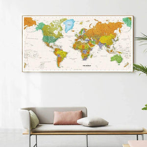 Classic Decorative World Map Wall Art Print from Gallery Wallrus | Eclectic Wall Art & Decor with Worldwide Shipping