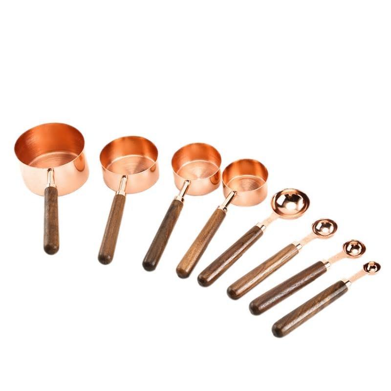 Walnut & Copper Measuring Set from Gallery Wallrus | Eclectic Wall Art & Decor with Worldwide Shipping