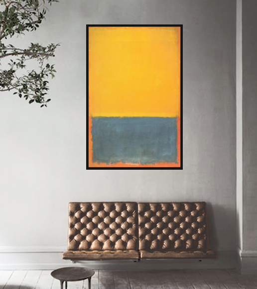Hand Painted Abstract Art Piece: Mark Rothko Inspired from Gallery Wallrus | Eclectic Wall Art & Decor with Worldwide Shipping