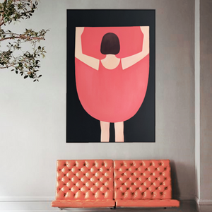 Large Pink Dress Art Print from Gallery Wallrus | Eclectic Wall Art & Decor with Worldwide Shipping