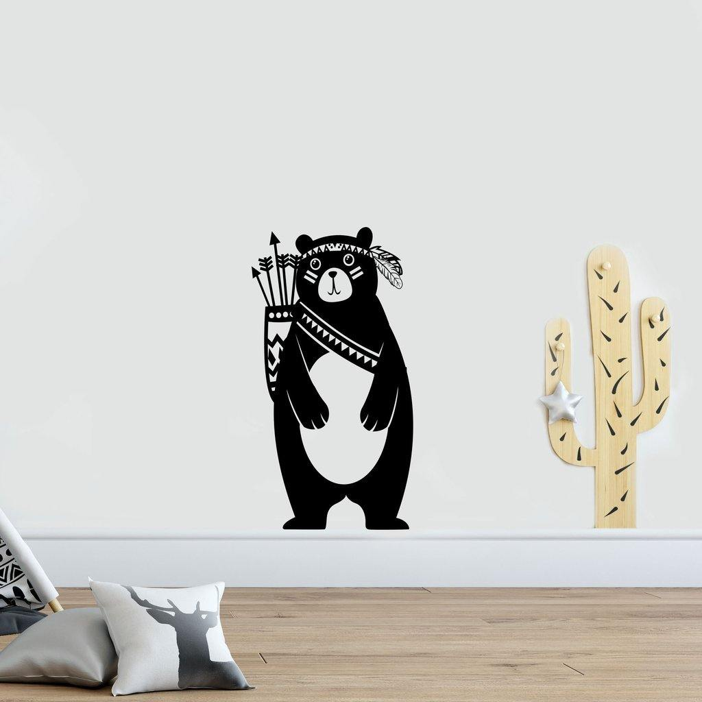 Tribal Bear Wall Sticker for Childrens Bedroom from Gallery Wallrus | Eclectic Wall Art & Decor with Worldwide Shipping