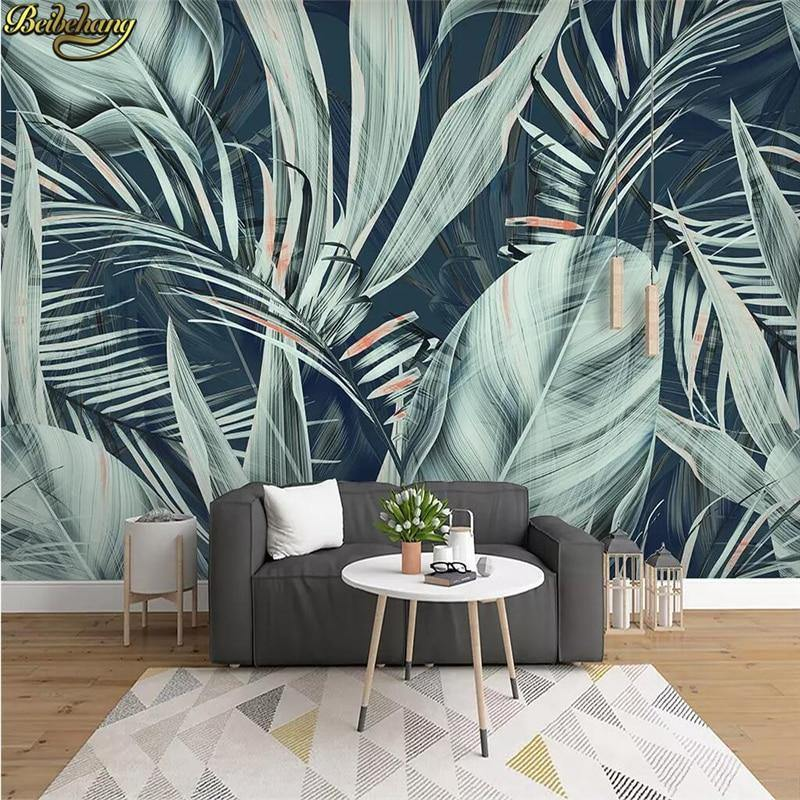 Dusty Green Plant Leaves Wall Decor Mural from Gallery Wallrus | Eclectic Wall Art & Decor with Worldwide Shipping