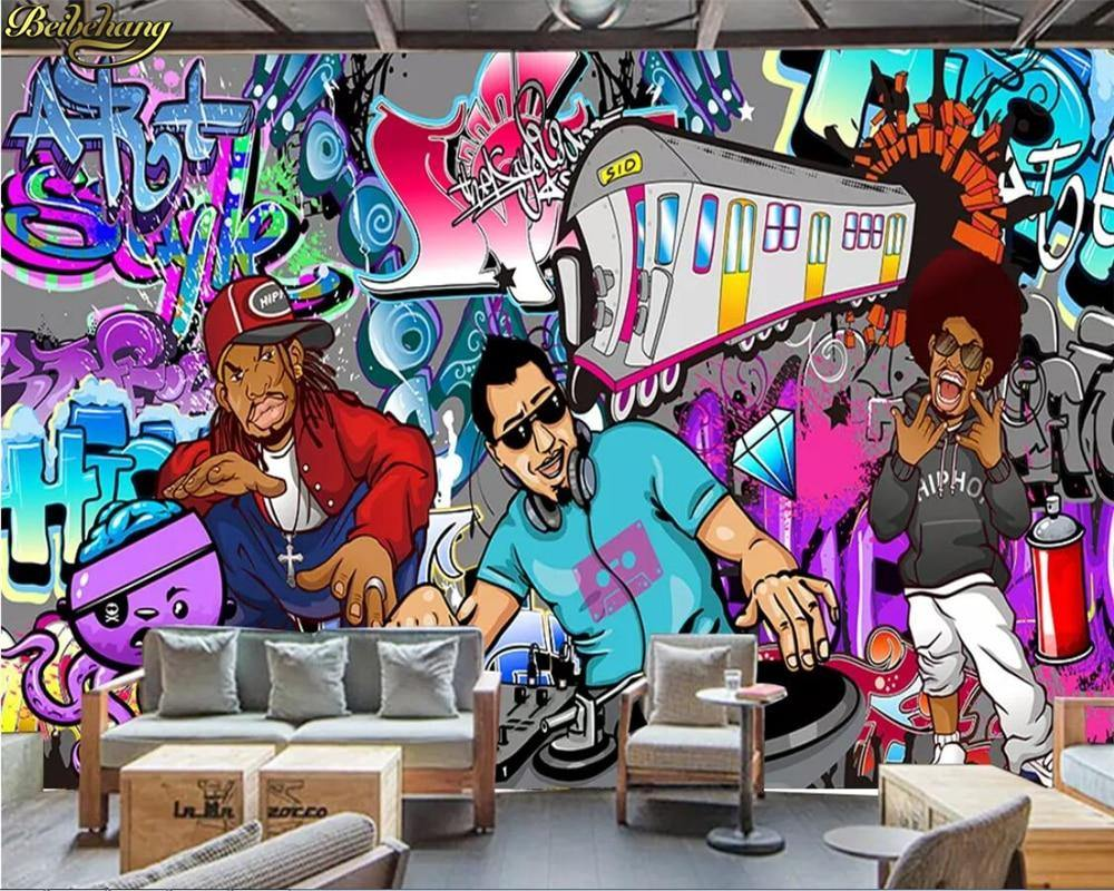 European Hiphop Music Artists Graffiti Wall Mural from Gallery Wallrus | Eclectic Wall Art & Decor with Worldwide Shipping
