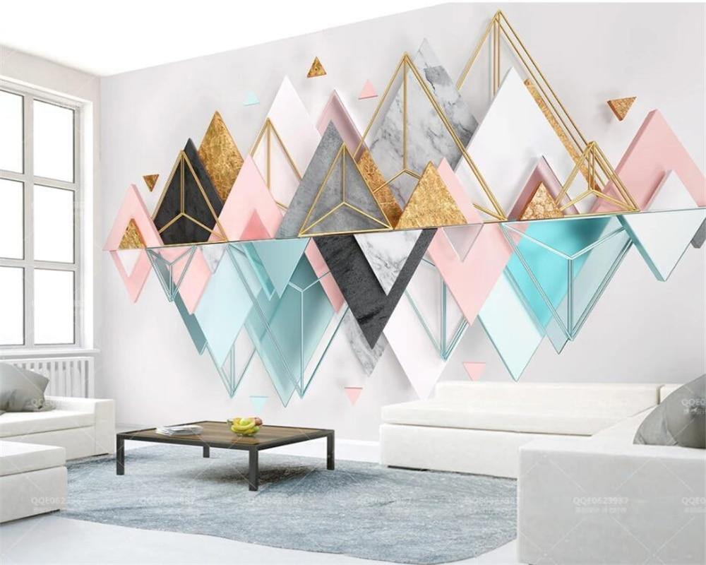 Pastel Triangular Metal Glass Geometry Wall Art from Gallery Wallrus | Eclectic Wall Art & Decor with Worldwide Shipping