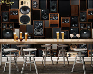 European Vintage KTV Sound Speakers Wall Mural from Gallery Wallrus | Eclectic Wall Art & Decor with Worldwide Shipping