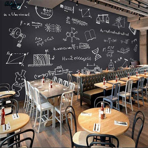 Mathematical Black Chalk Board Wall Mural from Gallery Wallrus | Eclectic Wall Art & Decor with Worldwide Shipping