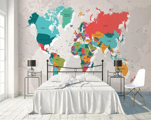 beibehang custom Vintage mottled color world map Photo mural Wallpaper Living Room Children's room 3d wallpaper mural tapeta from Gallery Wallrus | Eclectic Wall Art & Decor with Worldwide Shipping