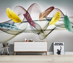 Colorful Feathers Wall Mural Collection from Gallery Wallrus | Eclectic Wall Art & Decor with Worldwide Shipping