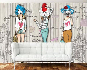 Fashion Paper Dolls Girls Ladies Collection Wall Mural from Gallery Wallrus | Eclectic Wall Art & Decor with Worldwide Shipping
