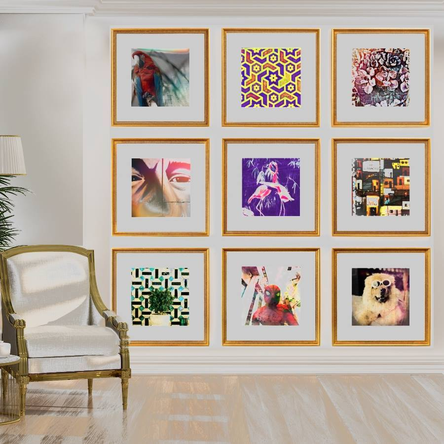 Bohemian Chic Gallery Wall Grid of 9 Art Prints from Gallery Wallrus | Eclectic Wall Art & Decor with Worldwide Shipping