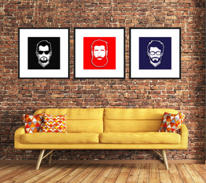 Retro Minimalist Avatar Personalised Portraits (in various sizes and colours) from Gallery Wallrus | Eclectic Wall Art & Decor with Worldwide Shipping