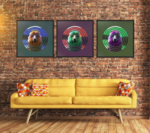 Retro Gallery Wall Alpaca Trio of art prints from Gallery Wallrus | Eclectic Wall Art & Decor with Worldwide Shipping