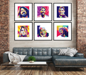 Funky Pop Art Personalised Portraits (in various sizes) from Gallery Wallrus | Eclectic Wall Art & Decor with Worldwide Shipping